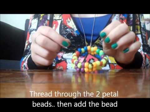 How to make a Kandi Flower Bracelet/Cuff.