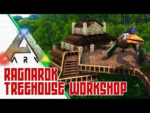 Treehouse Bungalow Workshop! :: Exploring ARK Ragnarok Official Map :: Awesome ARK Base Locations
