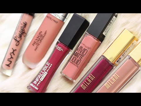 Drugstore Lipstick Review   Liquid Lipstick WEAR Test