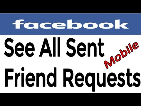 How to See  All Sent Facebook Pending friend Request Using Mobile 2017