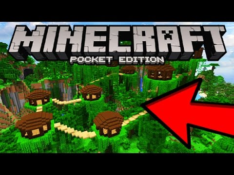 MCPE INCREDIBE NEW SEED! (Insane Jungle Village) | Minecraft Pocket Edition