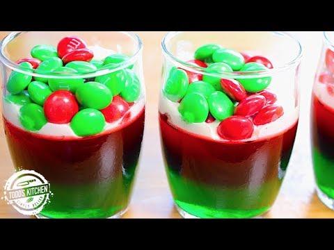 M&M Christmas Jello Gummy Cups recipe