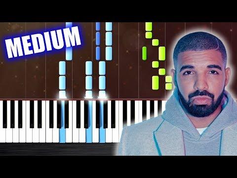 Drake - God's Plan - Piano Tutorial (MEDIUM) by PlutaX