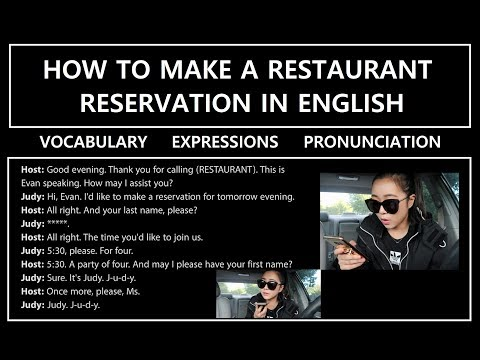How to Make a Restaurant Reservation in English (Phone) | 영어로 레스토랑 예약하는 방법 (전화) (영어)