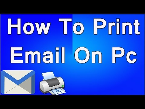 How To Print Email On Pc