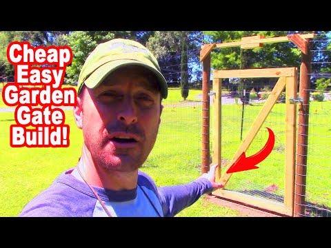 How to Build a Garden Gate Cheap and Fast