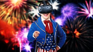 Virtual Reality Fireworks! Happy 4th of July! - Pyro VR Gameplay - HTC Vive VR