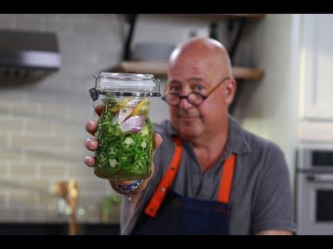 Andrew Zimmern Cooks: Pickled Jalapeños