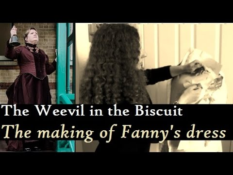Making a victorian dress from scratch! - The Making of Fanny Stevenson's Dress! (BEHIND THE SCENES)