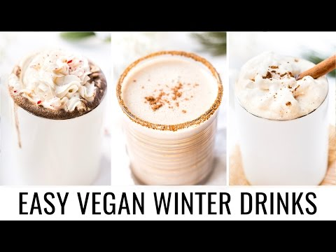 EASY VEGAN WINTER DRINKS | 3 healthy recipes