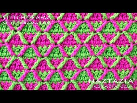 Crochet Post Stitch 002 - Front Post Treble Triple Crochet FPTC - Stitchorama by Naztazia