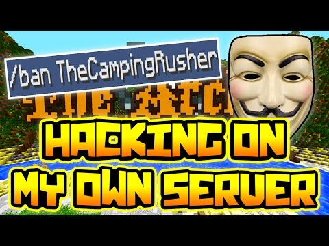 HACKING ON MY OWN MINECRAFT SERVER!!