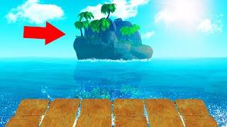 WE DISCOVERED A NEW ISLAND! (Raft)
