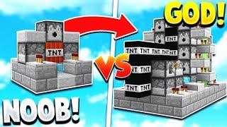 TNT WARS GOD vs TNT WARS NOOB | Minecraft Modded TNT WARS