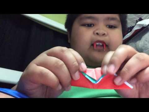origami vampire teeth