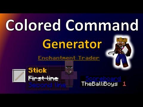 Minecraft Color Command genarator | Minecraft Command block tool | TheBalliboysliBoys