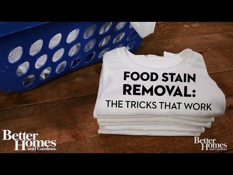 Food Stain Removal: The Tricks That Work