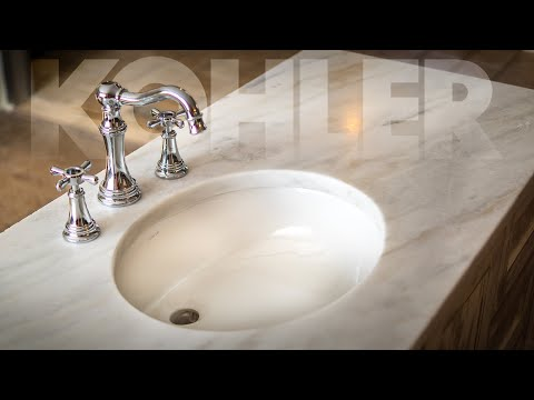 How To Cut / Polish Undermount Sink -  in Stone by Hand - Kohler K2210