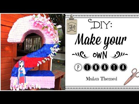 DIY: Make Your Own Pinata (Mulan Themed)