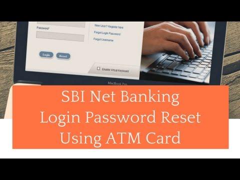 sbi netbanking login password reset using ATMcard