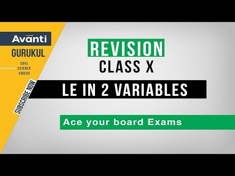 Pair of Linear Equations in 2 variables | CBSE Class 10 Revision | Important Questions