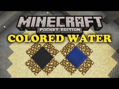 ✔ Colored Water Trick - Minecraft PE