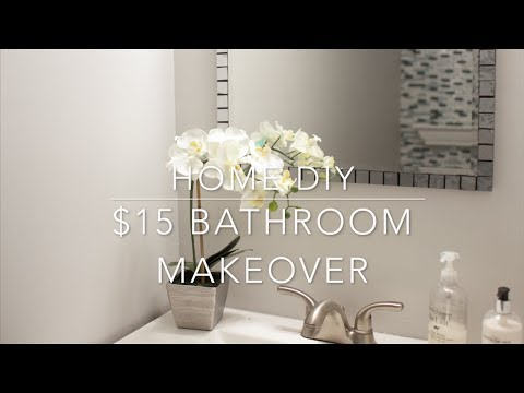 HOME DIY - $15 BATHROOM VANITY MAKEOVER