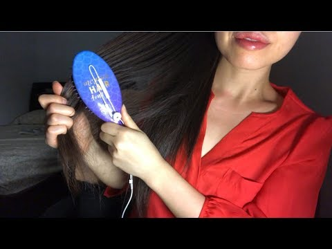 ASMR IS THIS MIND CONTROL? Hair Brushing Sounds, Brushing Long Hair/ Ponytail REPETITIVELY, HAIRPLAY