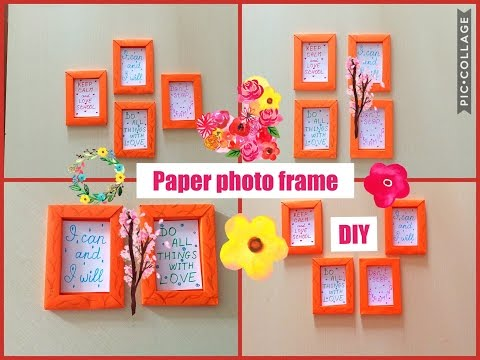 🏖How to make paper frame. 🏕 Photo frame DIY. 🏡 Wall decoration. Home craft DIY.