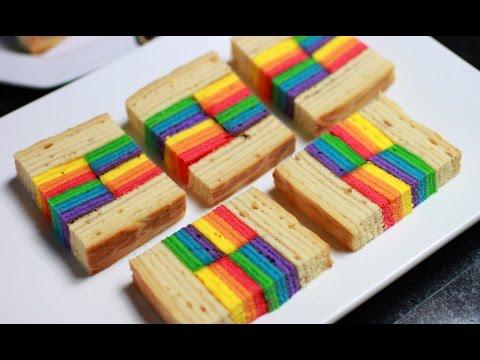 Rainbow Layered Honey Cake Recipe / 彩虹蜂蜜千层蛋糕