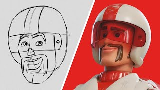 How to Draw Duke Caboom from Toy Story 4 | Draw With Pixar