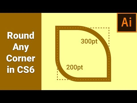 How to Easily Round Corner in Illustrator CS6 or Earlier versions