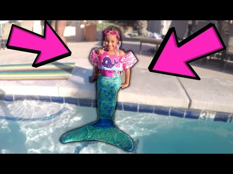 Real Life Mermaid Spotted in the Pool! FamousTubeKIDS