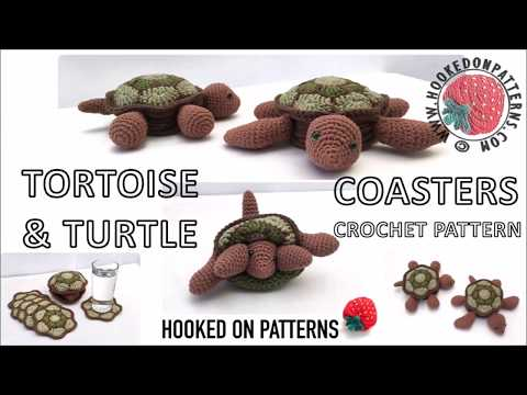 Tortoise & Turtle Coaster Set Crochet Pattern -Demonstration