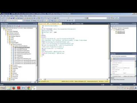 SQL Server tutorial 64: Parameterizing stored procedures