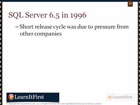 The History of SQL Server