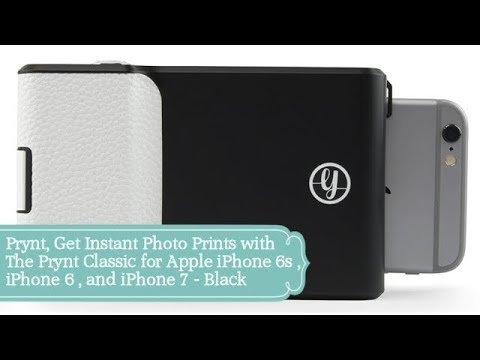 Prynt, Get Instant Photo Prints for Apple iPhone 6s , iPhone 6 , and iPhone 7 - Black