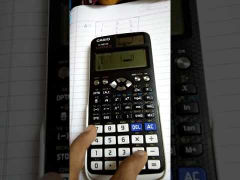How to find the inverse of a matrix using Casio fx-991EX
