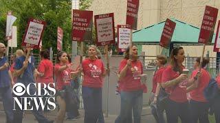Nurses hold strike at University of Chicago hospital