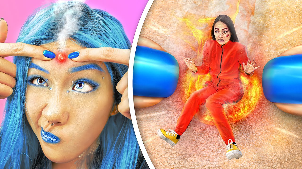 Hot vs Cold Challenge  / Sister on Fire vs Icy Sister