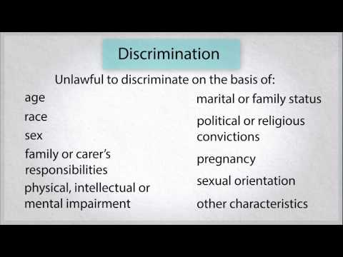 Employment Law in WA: 10. What can you do about discrimination or sexual harassment?