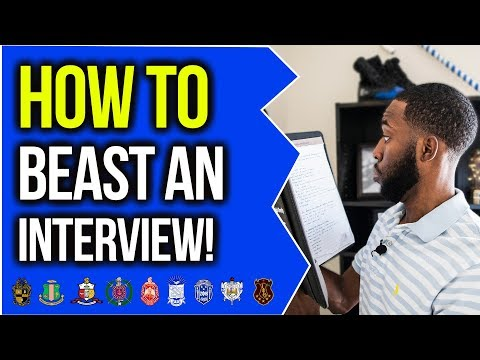 HOW TO PREPARE FOR AN INTERVIEW | NPHC ADVICE