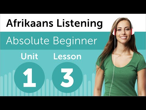 Afrikaans Listening Practice - Calling the South African Doctor's Office