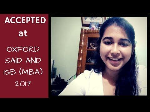 Oxford, Saïd MBA and ISB 2017 Admit | Testimonial