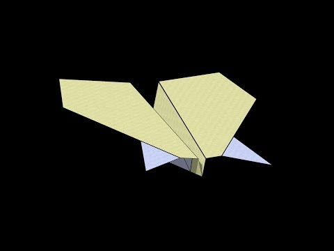Manta Ray Paper Airplane: 3D Folding