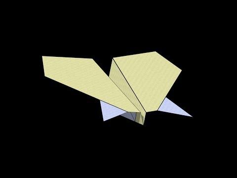 Manta Ray Paper Airplane: 3D Folding