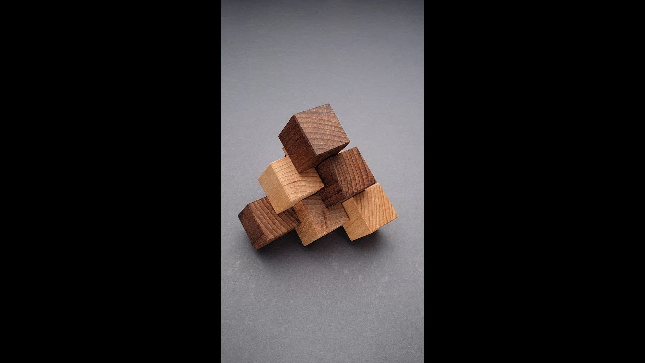 Difficult 3 piece Pyramid puzzle #shorts