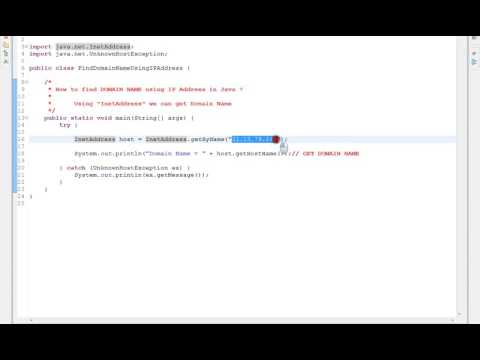 HOW TO FIND DOMAIN  NAME USING IP ADDRESS IN JAVA