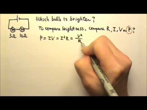 AP Physics 1 & 2: Circuits 13: Compare Brightness of Light Bulbs