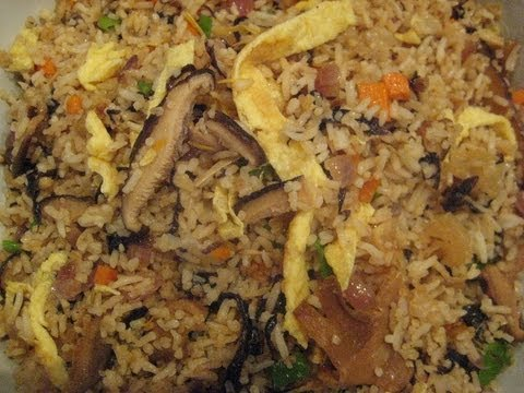 Fried Rice w/ Mushroom & Seaweed - Liz Kreate - RECIPE